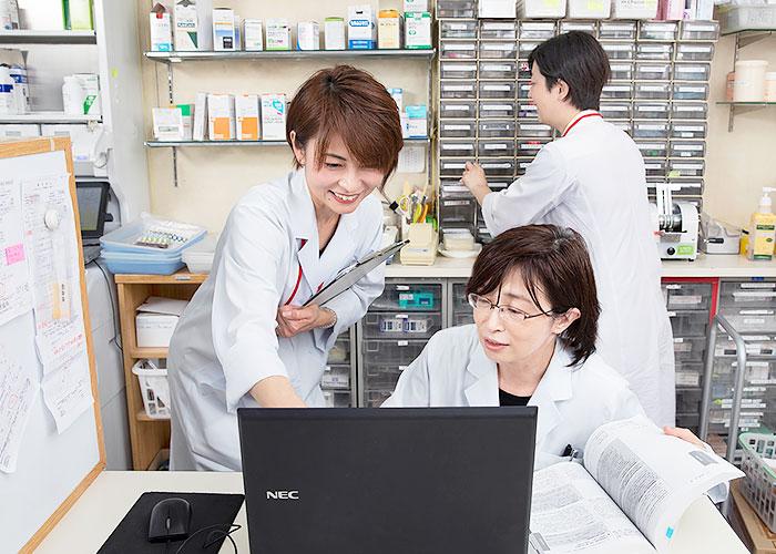 患者様にもスタッフにも快適な薬局になるように心がけています